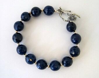 Navy Blue Agate Bracelet