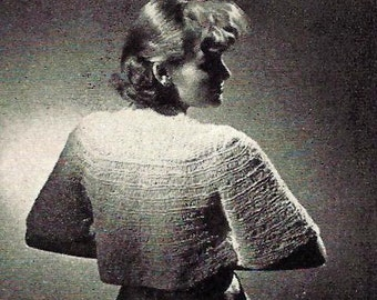 Dressy Bolero - Shrug - Sweater Knitting Pattern 726095