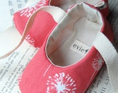 Coral Dandelion Ballet Slippers