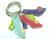 Key Ring Fancy High Heel Shoe One KEY Chain Your Choice Color Bridesmaid Favors