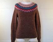 Fair Isle Sweater Vintage 1980s Market Exchange Sweater