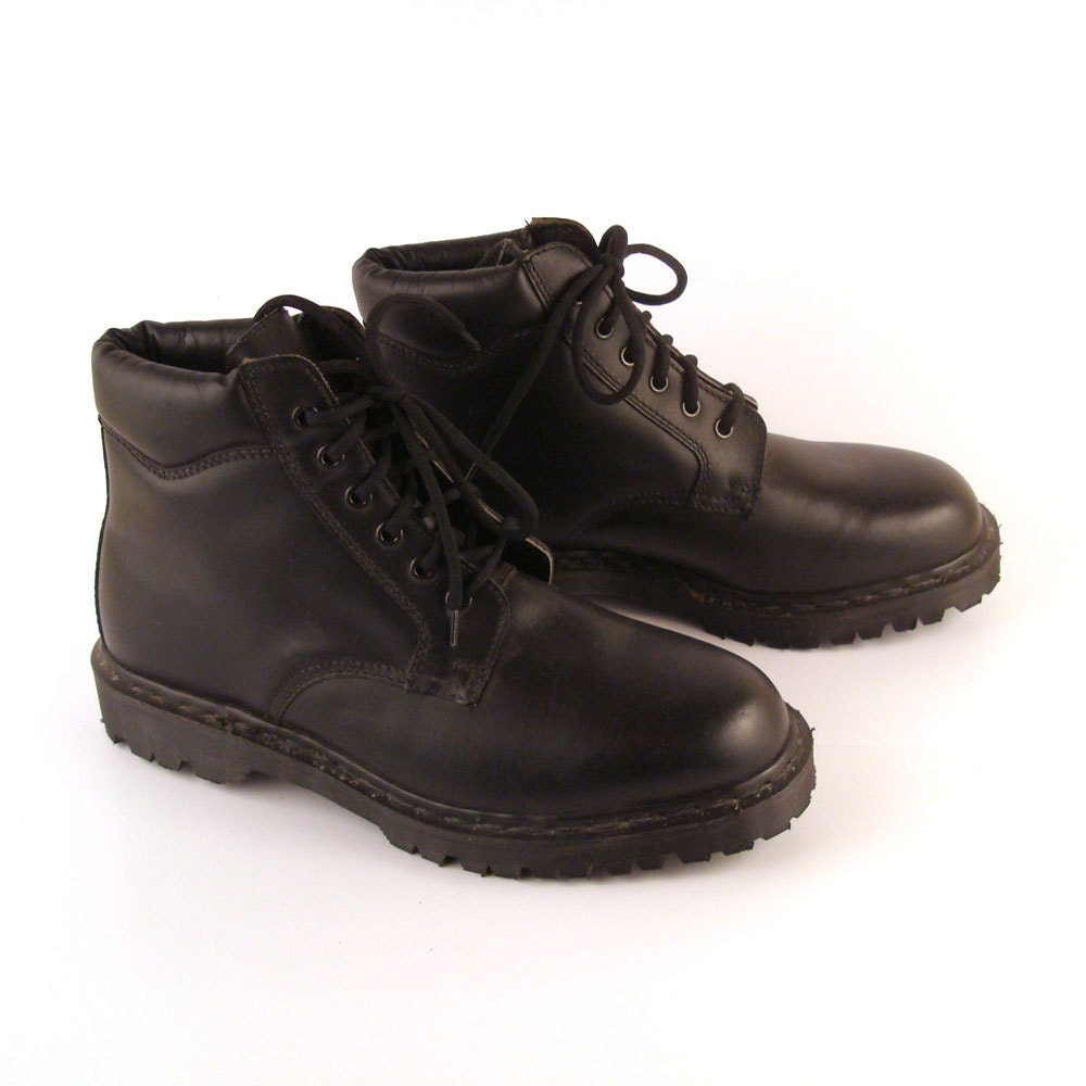doc martens boots vintage 1990 black deadstock dr made in