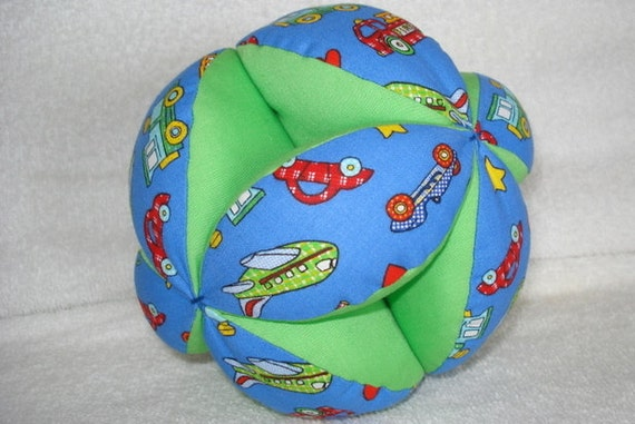 Trucks, Planes, Cars Easy-Catch Baby/Toddler Clutch Ball