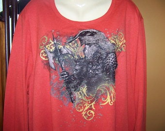 Plus size 5X Gothic Knit Top, Cool T-shirt in Plus Size Clothing
