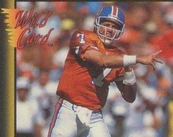 1991 Wild Card JOHN ELWAY Hall of Fame QB Football Card