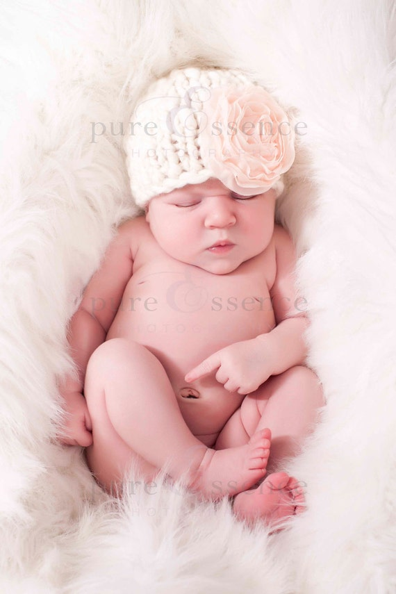Baby Hat Pattern - Knit Chunky Elf and Beanie Hat - Instant Download PDF