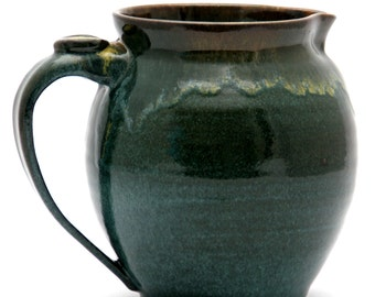 Round Turquoise Pitcher - Twilight Glaze Combination