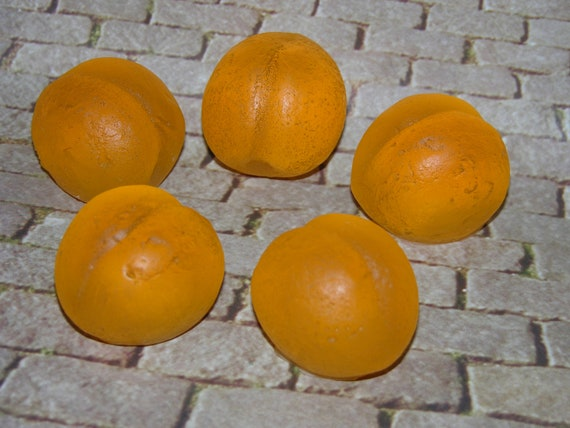 PEACHES & CREAM Scented Soap Set  - Peach Shaped - Handmade Guest Soap - Fruit - Gift Soap - Vegan - Choose Your Soap Base