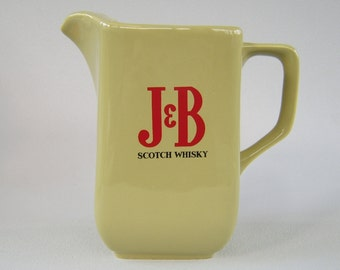 Vintage J & B Scotch Whisky Ceramic Pitcher Whiskey Collectible