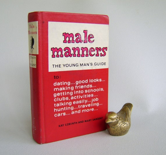 Vintage How-to Book Male Manners Mid Century Sixties Red
