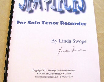 SEA PIECES for solo tenor recorder by composer Linda Swope