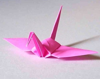 100 Small Origami Cranes Origami Paper Cranes Paper Crane Origami Crane - Made of 7.5cm 3 inches Japanese Paper - Pink