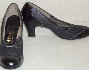 Vintage Deadstock Naturalizer Mesh Shoes Pumps 9AAAA Black