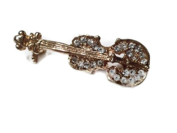 vintage pin, musical instrument, cello, musical pin, vintage jewelry
