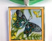3D Silver Butterfly Pendant