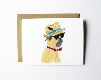 Any Occasion Card - Handsome Pug