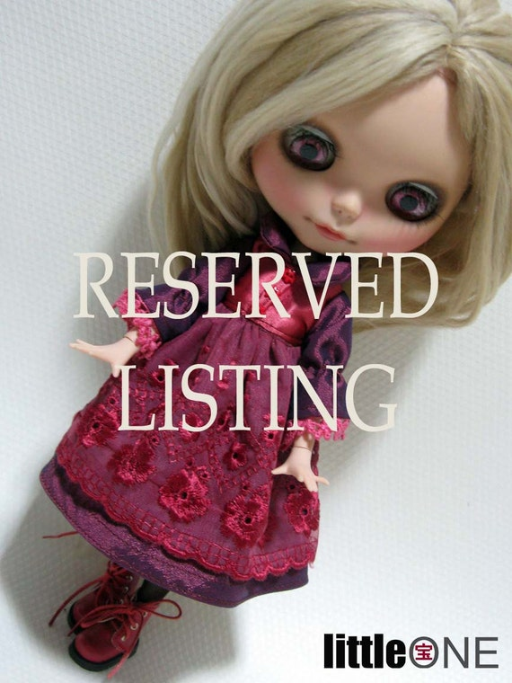 RESERVED LISTING - reserved for Pilar Bambó Ciprés'