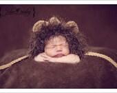Newborn Baby Lion Hat, Lion Hat Photo Prop