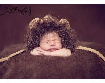 Newborn Baby Lion Hat Photo Prop