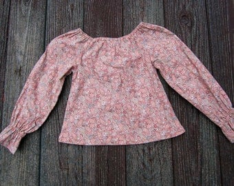 Girls paisley peasant top  Size 6