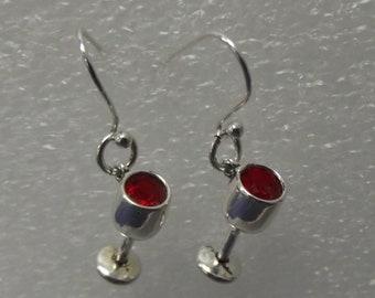 Earrings Red Red Wine