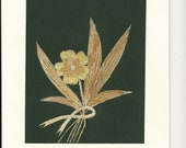 Ancient leaf art.  Bible verses printed Ready to frame. Can You believe this flower is made out of dried rice leaves