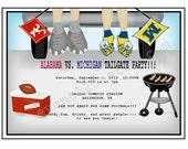Tailgate Invitation // Custom Football Tailgate invitation with your favorite teams