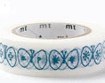 mt Washi Masking Tape - Navy Blue Butterfly - mina perhonen