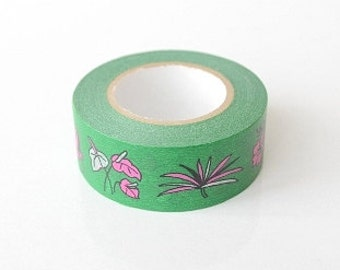 Washi Masking Tape - Parrot - Limited Edition - Tokyu Hands (15m roll)