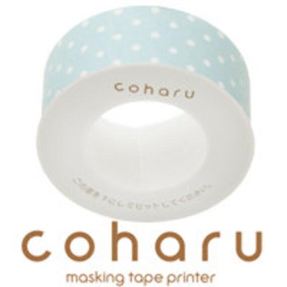 coharu Masking Tape - Dot Mint Blue - Printer tape