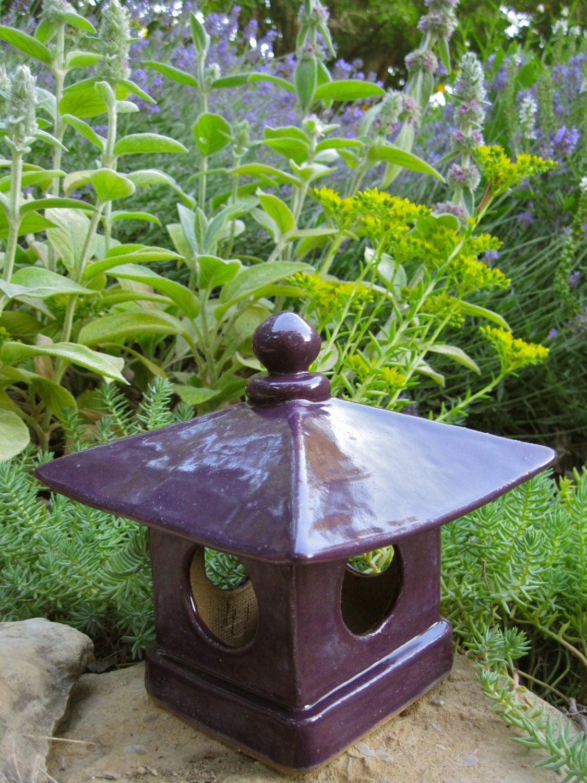 Handbuilt ceamic japanese garden lantern hand built ceramic for Japanese landscape lanterns
