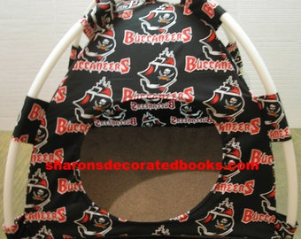 Large Handmade Tampa Bay Buccaneers Pup Tent Pet Bed For Cats / Dogs / Ferrets / Piggies Or Used For A Toy Box / Barbie Doll House