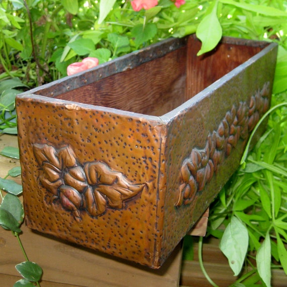 Fantastic Copper Covered Box and Planter