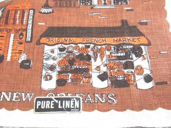 Vintage Linen Towel New Orleans