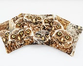 Woodland Owls Balsam Sachets - Natural Aromatherapy - Forest Scent Drawer Sachets - Gardenmis