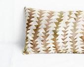 Lavender Aromatherapy Sleep Pillow, Eco Luxury Gift, Modern Geometric Decor
