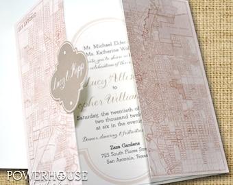 San Antonio Quatrefoil Wedding Invitation  • DIY • We professionally print • you assemble