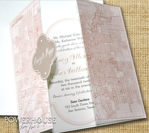 San antonio quatrefoil wedding invitation diy we for Wedding invitation printing san antonio