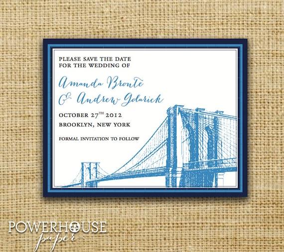 Save the Date Brooklyn Bridge