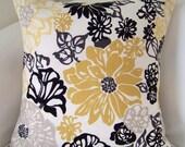 Yellow Pillow Decorative Pillow Cover Throw Pillow Accent Pillow Cushion Yellow Gray Black