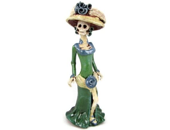 sexy skeleton vintage catrina clay skeleton figure mexican