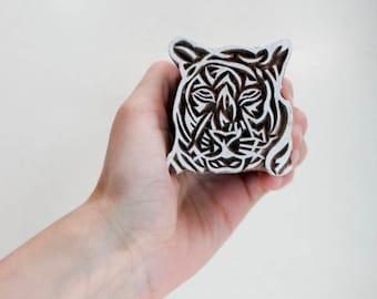 Sale Indian Wood Stamp Tiger 163