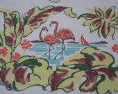 RESERVED/SOLD Vintage Florida Tablecloth Souvenir STARTEX