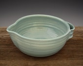 Batter Bowl in Vintage Turquoise - Kitchen Bowl - Country Style  - Omelette Bowl - Pottery Bowl - by DirtKicker Pottery
