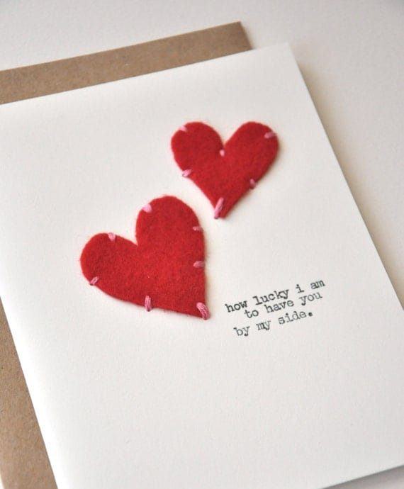 Handmade Cards Hearts Handmade Valentine's Day Card