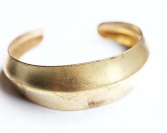 Brass Cuff Bracelet, Dome Cuff, Gold Cuff, Gold Cuff Bracelet, Vintage Cuff, Adjustable Cuff Bracelet, Brass Bracelet, Geometric Cuff