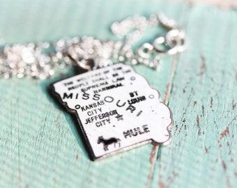 State Charm Necklace - Missouri