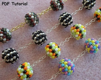 Confetti Bracelet Tutorial PDF Pattern (INSTANT DOWNLOAD)