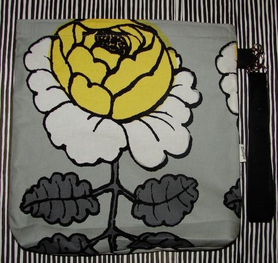 Black and Yellow Maalaisruusu swim, lunch, toiletry, storage, baby, toy bag purse  pouch ,Finland