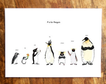 P is for Penguin Card